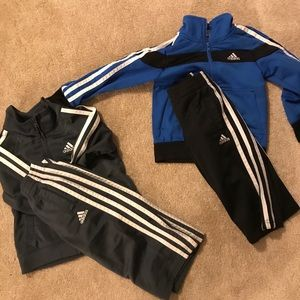 Bundle of 2 sets of Adidas track suits